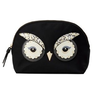 KATE SPADE STAR BRIGHT OWL SM MARCY COSMETIC BAG